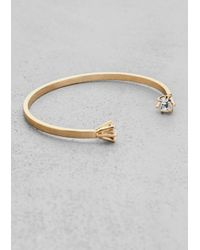 & Other Stories | Metallic Double Rhinestone Cuff | Lyst