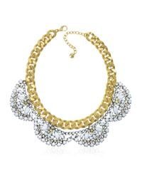 Juicy Couture | Metallic Flower Cluster Collar Necklace | Lyst