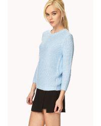 Forever 21 | Blue Cozy Bouclé Sweater | Lyst