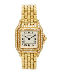 Camilla Dietz Bergeron | Cartier Panther Watch in 18k Yellow Gold and Diamond | Lyst