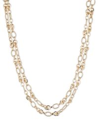 Anne Klein | Metallic Layrered Chain Necklace | Lyst