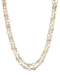 Anne Klein - Metallic Layrered Chain Necklace - Lyst