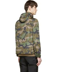 Valentino - Green Nylon Camo Wind Breaker Jacket for Men - Lyst