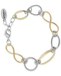 T Tahari - Metallic Two-Tone Open Link Bracelet - Lyst