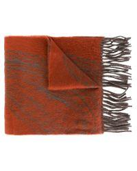 Etro - Orange Knitted Scarf - Lyst