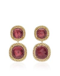 Marco Bicego - Pink Tourmaline Jaipur Sunset Drop Earrings With Diamonds - Lyst