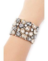 Forever 21 | Gray Rhinestone Teardrop Bracelet | Lyst
