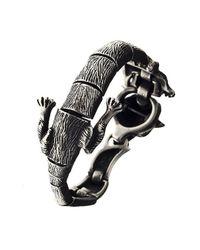Ametallo - Metallic Volpe Stainless Steel Bracelet for Men - Lyst