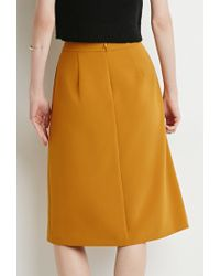 Forever 21 | Orange Inverted Pleat A-line Skirt | Lyst