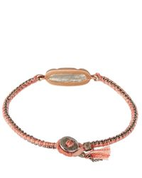 Brooke Gregson | Gray Mid Grey Labradorite And Silk Button Bracelet | Lyst