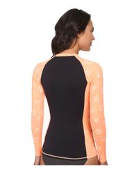 Hurley - Orange One & Only L/s Rashguard - Lyst