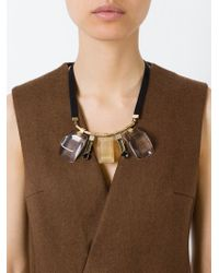 Marni | Metallic Stone Pendant Necklace | Lyst
