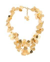 Herve Van Der Straeten | Metallic Hammered Gold-Plated Fleur Necklace | Lyst