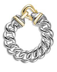 David Yurman - Metallic Buckle Single-row Bracelet With Gold - Lyst
