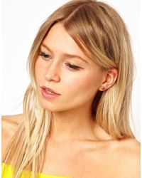 ASOS | Multicolor Pack Of Nine Stone Stud Earrings | Lyst