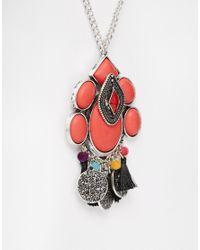 ASOS - Metallic Summer Tassel Long Pendant Necklace - Lyst