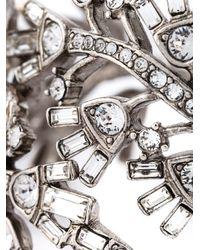 Oscar de la Renta   Metallic Floral Embellished Bracelet   Lyst