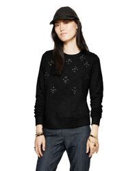 kate spade new york - Black Embellished Sweatshirt - Lyst