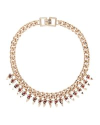Mawi | Purple Rose Gold Tone Necklace | Lyst