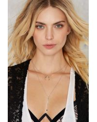 Nasty Gal - Metallic Ask For The Moon Layered Necklace - Lyst