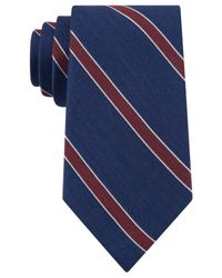 Tommy Hilfiger | Blue Stripe Tie for Men | Lyst