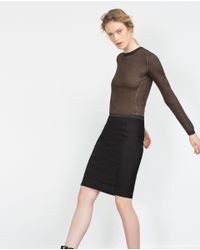 Zara | Black Tube Skirt | Lyst