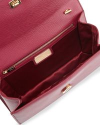 Ferragamo - Metallic Ginny Vara Crossbody Bag - Lyst