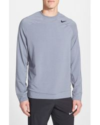 Nike | Gray Dri-fit Raglan Long Sleeve Crewneck for Men | Lyst