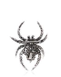 Saint Laurent | Metallic Swarovski Spider Pin | Lyst