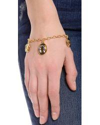 Tory Burch - Metallic Sylbie Multi Charm Bracelet - Lyst
