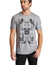 Guess | Gray Jordan Slub Graphic T-shirt for Men | Lyst