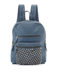 Ash - Blue Backpack Domino Stud - Lyst