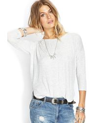 Forever 21 - Gray Heathered Dolman Top - Lyst
