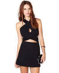 Nasty Gal - Black Crux Dress - Lyst