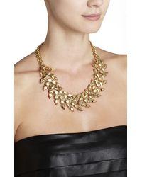 BCBGMAXAZRIA - Metallic Metal Chevron Stone Necklace - Lyst