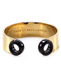 Marc By Marc Jacobs | Black Round And Round Peep Hole Cuff | Lyst