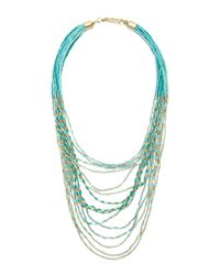 Forever 21 | Metallic Beaded Statement Necklace | Lyst