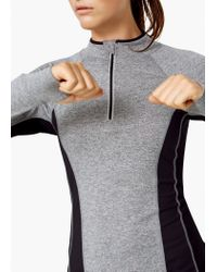 Mango - Gray Fitness & Running - Long-sleeve Technical T-shirt - Lyst