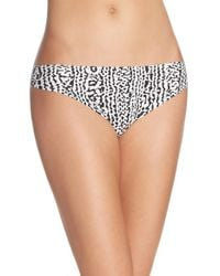 Calvin Klein | Purple 'invisibles' Print Thong | Lyst