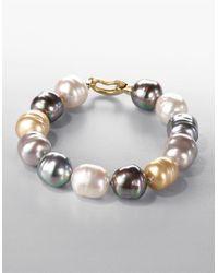 Majorica | 14mm Multicolor Baroque Pearl Strand Bracelet | Lyst