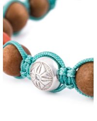 Shamballa Jewels - Blue Coral Diamond Beaded Bracelet - Lyst