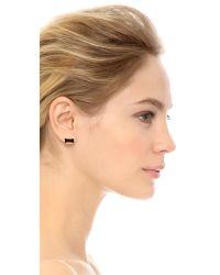 kate spade new york | Jackpot Jewels Bow Stud Earrings - Black | Lyst