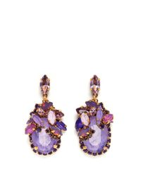Aerin | Purple X Erickson Beamon Crystal Drop Earrings | Lyst