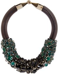 Marni | Green And Black Jewelled Necklace | Lyst
