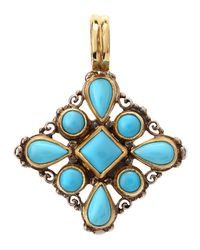 Konstantino | Blue Turquoise Cabochon Pendant | Lyst