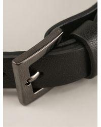 Valentino   Black 'Rockstud' Bracelet   Lyst