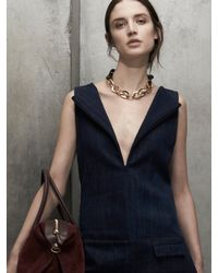 Maiyet | Metallic Horn & Gold Oval Link Necklace | Lyst