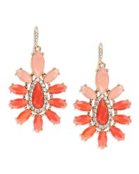 ABS By Allen Schwartz | Pink Ombre Chandelier Earrings | Lyst