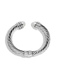 David Yurman - Metallic Cable Classics Bracelet with Pearls - Lyst