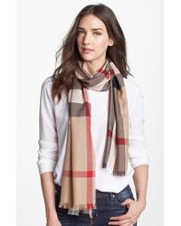 Burberry - Natural Check Scarf - Lyst